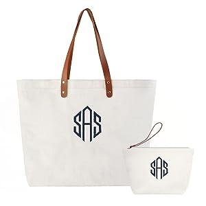 monogrammed shoulder bag gifts