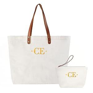 monogrammed shoulder bag for mother`s gift