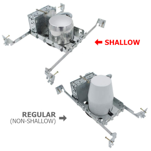 shallow new construction cans
