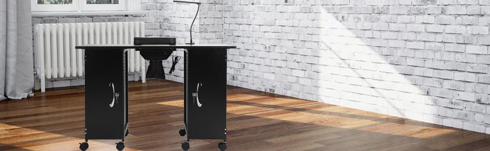 Amazon.com: Mefeir - Mesa de manicura con marco de hierro ...