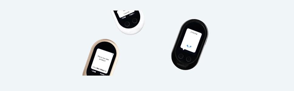 pocketalk portable two way voice foreign language voice translator device