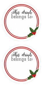 amazon com christmas drink cup name tag labels 60 stickers health