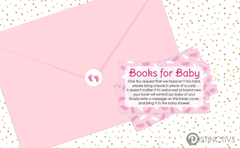 Amazon.com: Books for Baby Request Cards - Girl Baby Shower ...