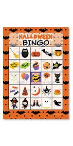 amazoncom halloween bingo game for kids 24 players kitchen dining