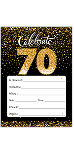 amazon com 70th birthday party invitation cards with envelopes 25