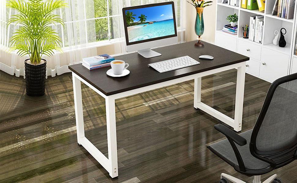 Amazon Com Yaheetech Simple Computer Desk Pc Laptop Writing Study