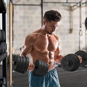 dumbbell gym set