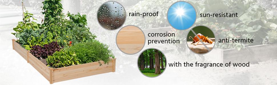 Natural fir wood, safe & durable