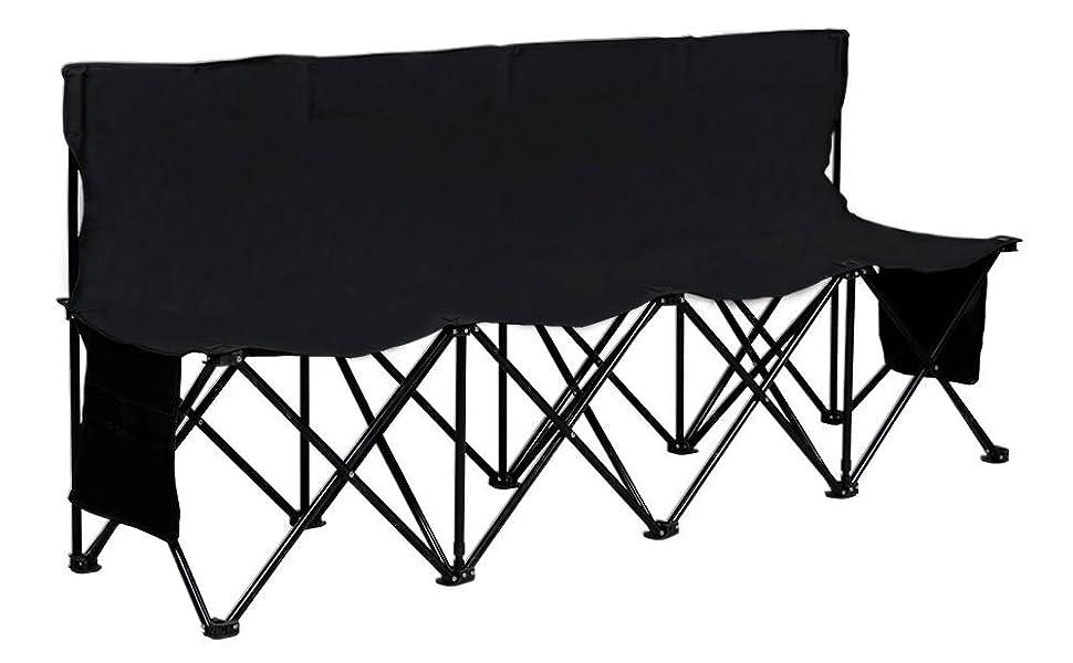 Amazon.com : Yaheetech Portable 4 Seats Sports Bench Sits Team ...