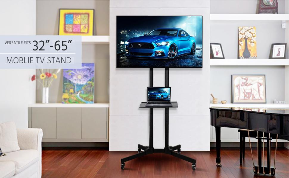 Amazon.com: Yaheetech 32 to 65 Inch Universal Flat Screen TV Carts ...