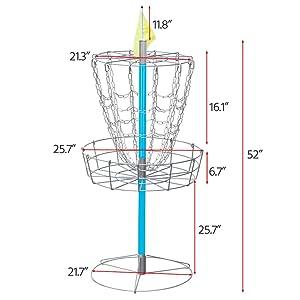 yaheetech portable disc golf basket. Black Bedroom Furniture Sets. Home Design Ideas