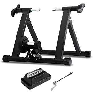 Bike Wheel 5 Level Resistance Magnetic Indoor Trainer Exercise Front Stand