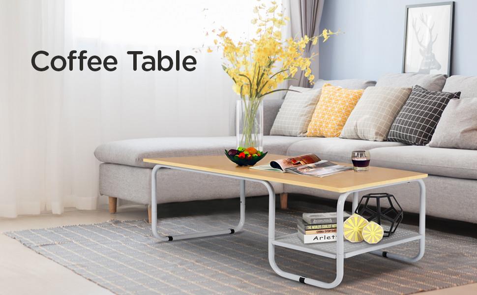 Amazon.com: parte superior yaheetech mesa de centro de ...