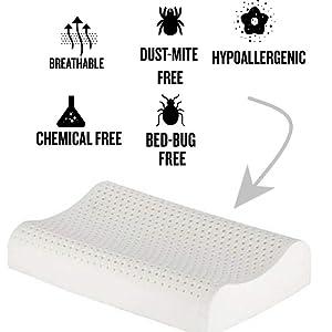 Amazon Com 100 Organic Latex Contour Pillow For Neck