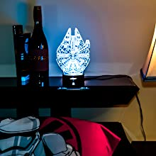 3D lamp star wars, bedside night lamp for children