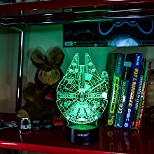 3d night for boys, bedroom decor star wars