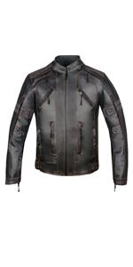 a0ca109fc Amazon.com: Men's Vintage Motorcycle Cruiser Armor Ventilated ...
