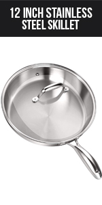 12 Inch Stainless Steel Skillet