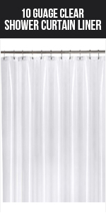Shower curtain liner Clear