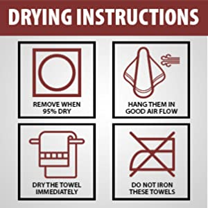 Drying instructions