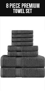 56 x 112 cm Badetuch Handt/ücher Blau Utopia Towels 6er Pack Badetuch Set
