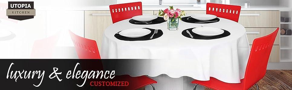 Utopia Kitchen Round Tablecloth