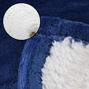 Amazon Com Sherpa Flannel Fleece Reversible Blankets