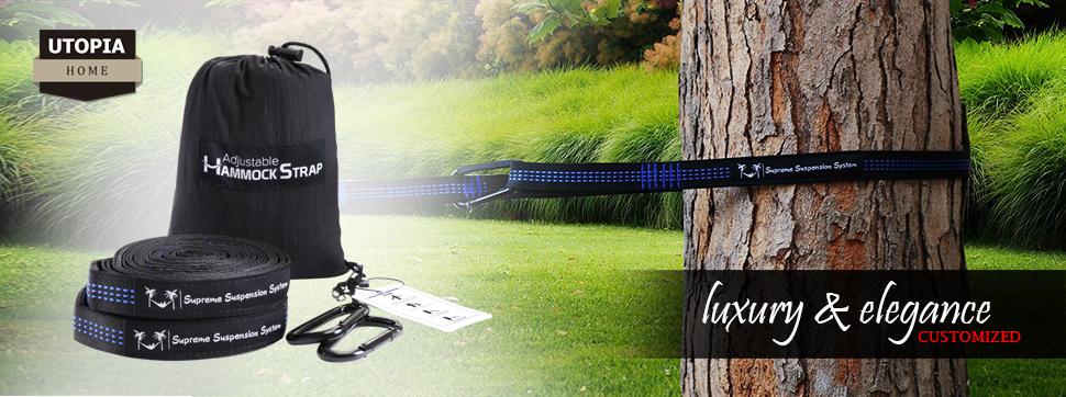 set of supreme quality adjustable hammock straps amazon    supreme  u0026 durable adjustable hammock straps   extra      rh   amazon