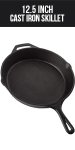 12.5 Inch Cast Iron Skillet