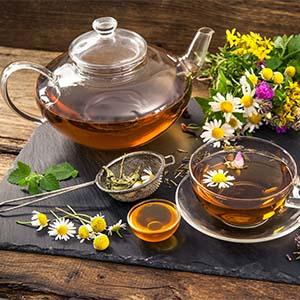 Organic tea dried herbs