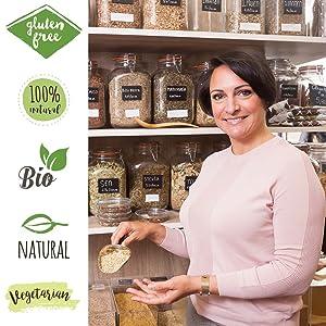 Organic gluten free natural bio dried herb