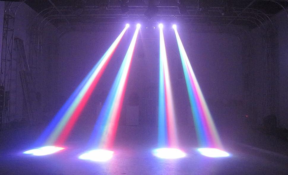 Amazon Com Mfl 10w Led Moving Head Light Rgbw Stage