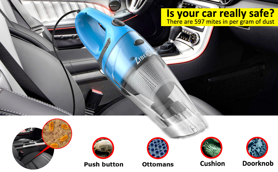 Amazon Com Liberrway Car Vacuum Cleaner High Power Dc 12v Portable