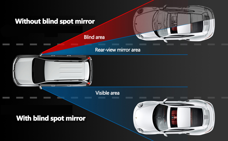 Amazon Com Blind Spot Mirror Square Liberrway Wide Angle