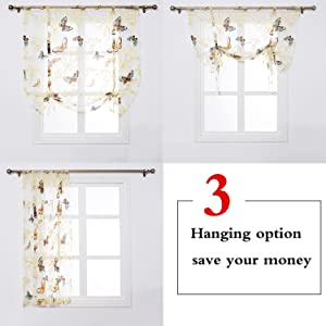 SINOGEM Roman Sheer Curtains Have 3 Difference Hanging Optionsthat Means You Cost 1 Piece Price Can Get Styles Curtain