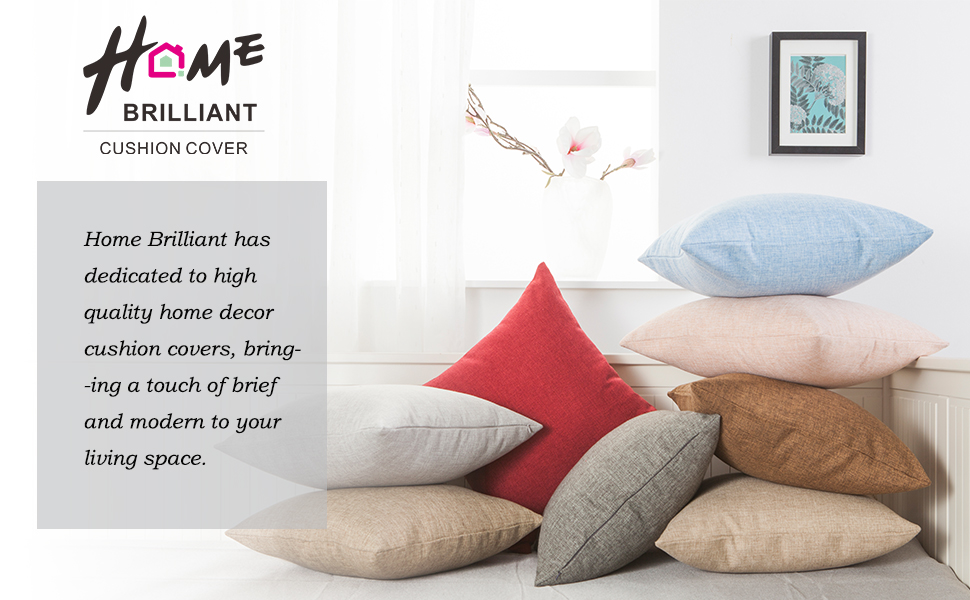 Home Brilliant Cushion Cover (Soft Linen) Can Not Only Protect Your  Expensive Pillow Inserts, But Also Mix And Match With Your Other Pillows  And Furniture ...