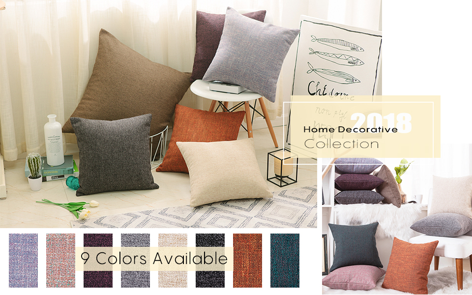 a928f75d5a31 2018 HOME DECORATIVE COLLECTION------Linen Chenille Blend Cushion Covers