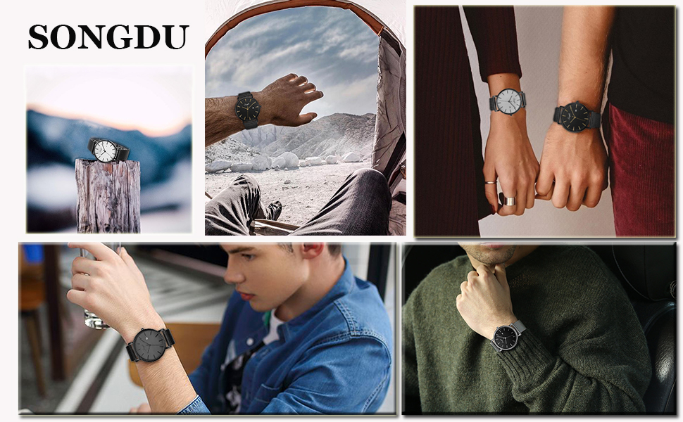 black watches mens watches clearence