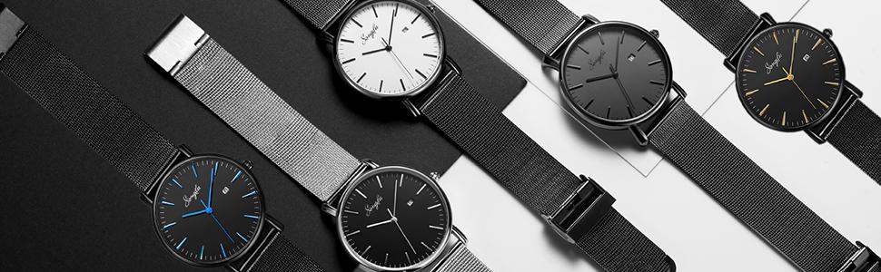 stainless steel watches quartz analog watches