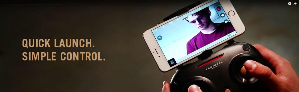 Protocol Vento WiFi Drone with Camera & Remote Control | Folding Arms for Easy Portability | Live Streaming Video Capability niuChc8SQtuq