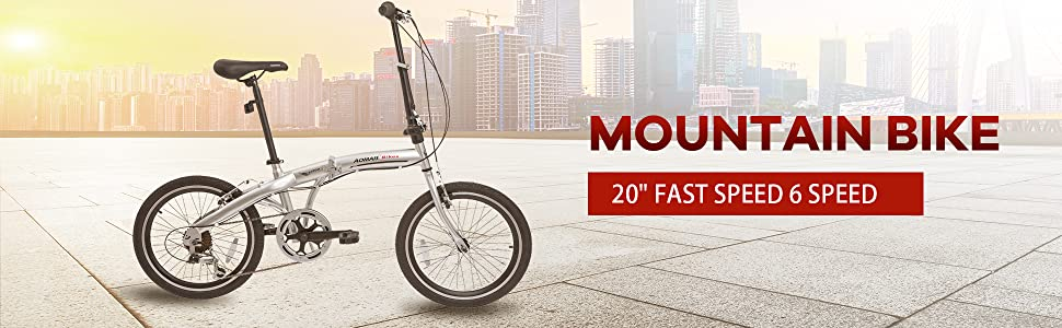 Amazon.com: Murtisol Bicicleta plegable de 20 pulgadas ...