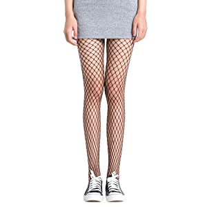 b20700dc45c8a FAYBOX 3 Pack Fishnet Stockings Hollow Stretchy Tights Seamless Sexy ...