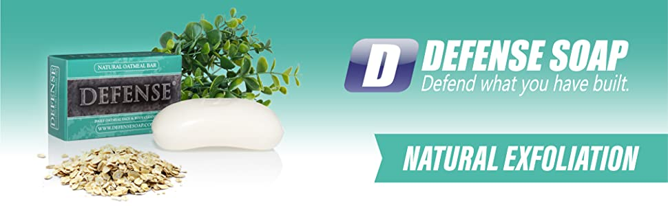 Defense Soap Oatmeal Bar Natural Eucalyptus Exfoliate Tea Tree Oil Essential Triple Milled
