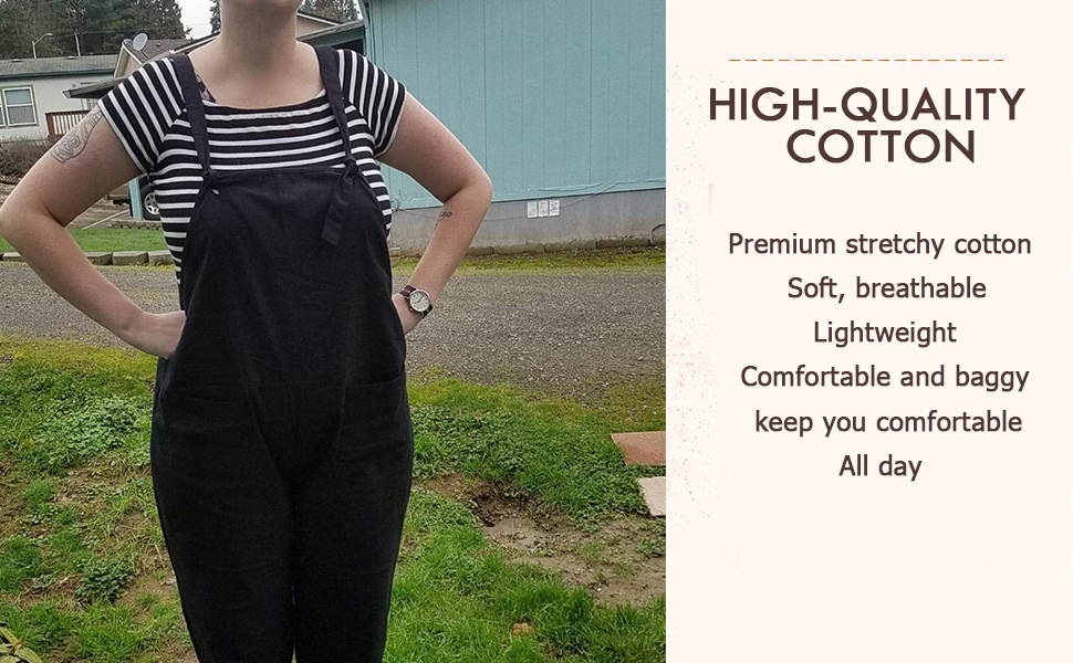 d2c91ccd98eb8 Feature 1 This loose and casual long women s overalls is super lightweight  and soft