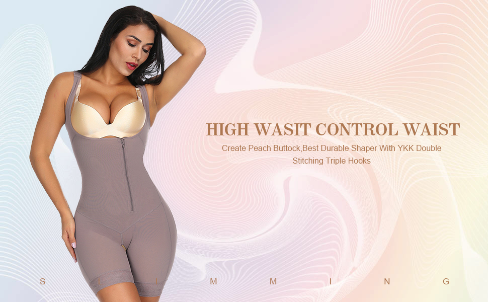 930ab84ddd 1. Thigh slimmer shapewear fit shows 360 degrees of firm compression and  trimming action focused on the waist