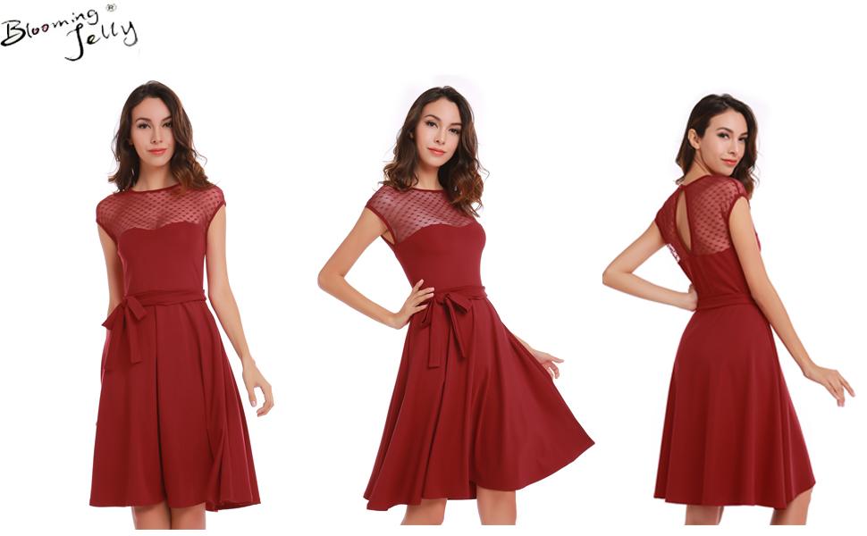 Retro 50s Style Swing Dress