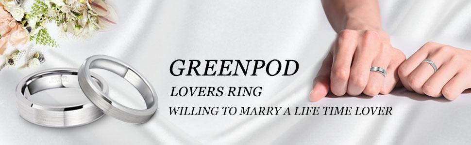 Genuine Tungsten Wedding Mens Womens Ring