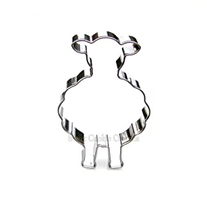 Front Facing Sheep Cookie Cutter- Stainless Steel