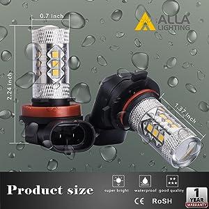 2x 30-3030SMD 9006 HB4 30SMD High Power LED 6000K White Fog Light Driving Bulbs