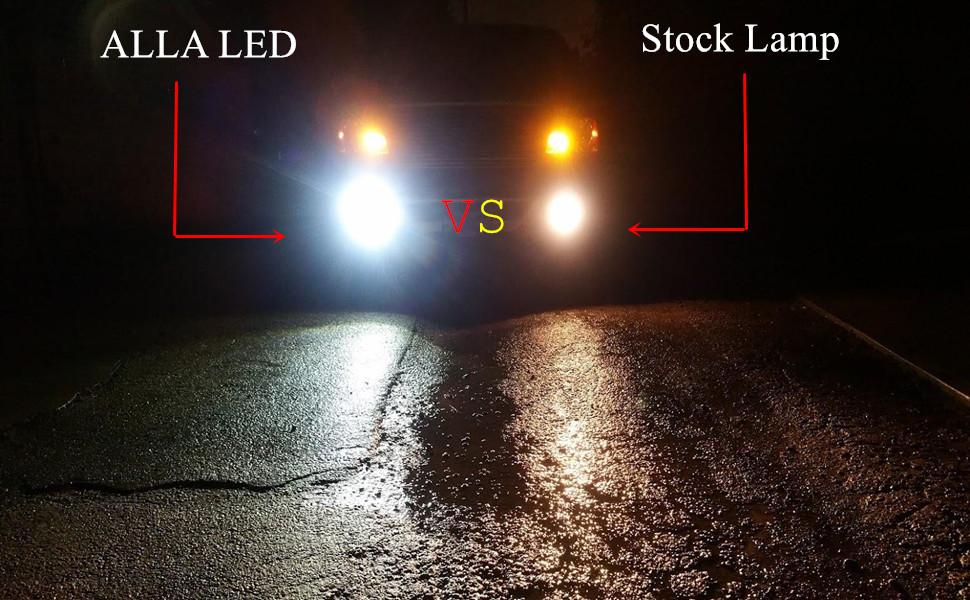 Alla Lighting 2800lm Psx24w 2504 Led Lights Bulbs 6000k Xenon White Xtreme Super Bright Cob 72 12v Car Fog Light Replacement 12276